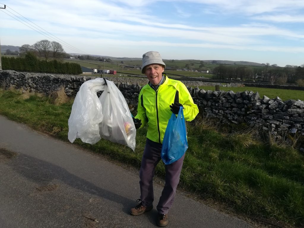 Recycling our litter pickings