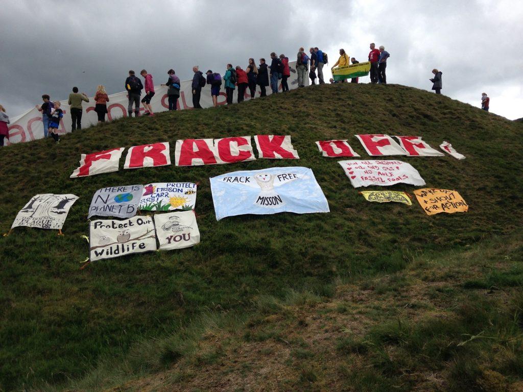 Climate Action - frack off on Mam Tor